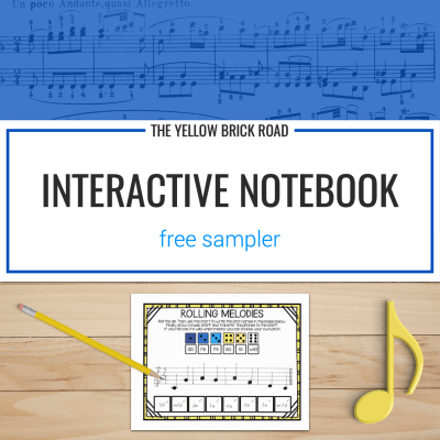 Music Interactive Notebook Sampler (Free)