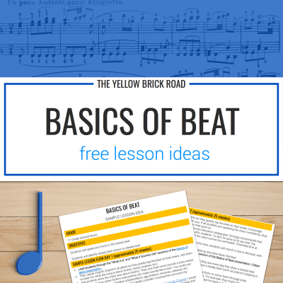 Basics of Beat Free Lesson Ideas