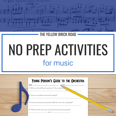 No Prep Activities for Music