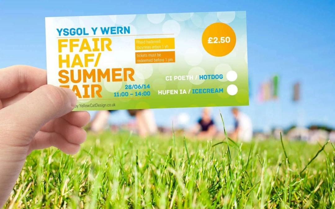 Ysgol Y Wern bilingual event branding