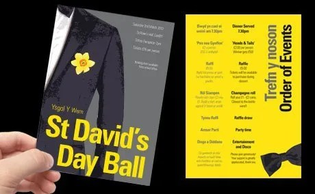 St David's Day Event Branding and Print