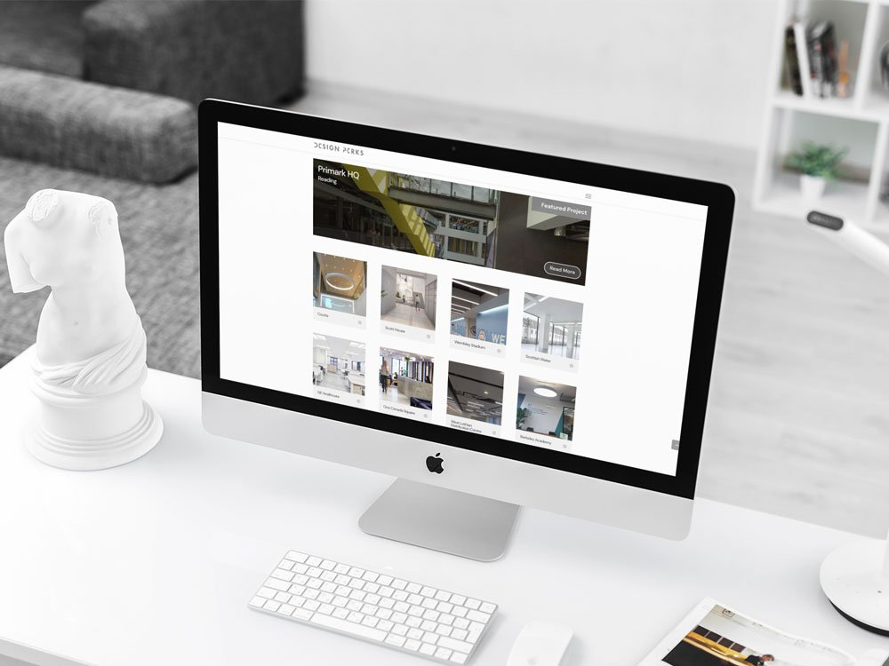 Design Perks Website iMac