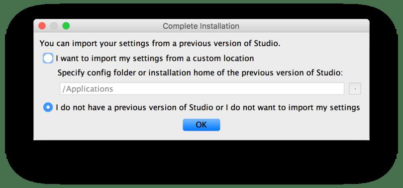 Cài đặt Android - Cài đặt Android Studio