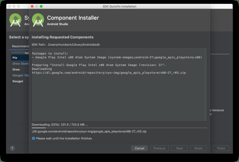 Máy ảo máy thật - Download gói hệ điều hành
