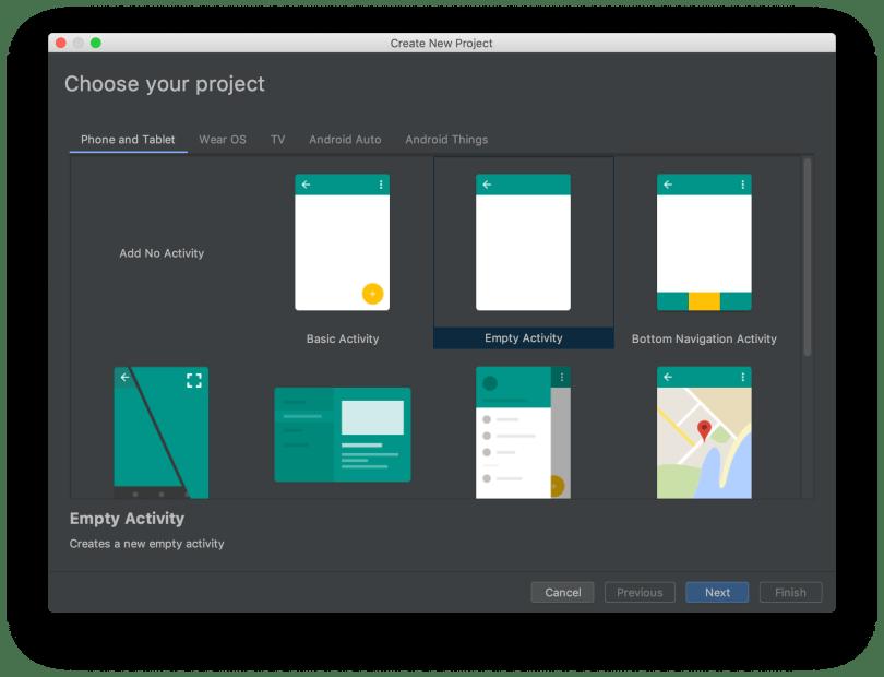 Tạo mới project - Chọn phiên bản project phù hợp