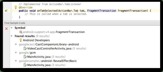 Công cụ lập trình Android - Find Sample Code