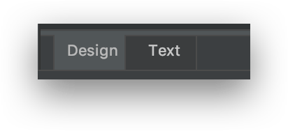 Tạo giao diện người dùng - Tab Design và tab Text