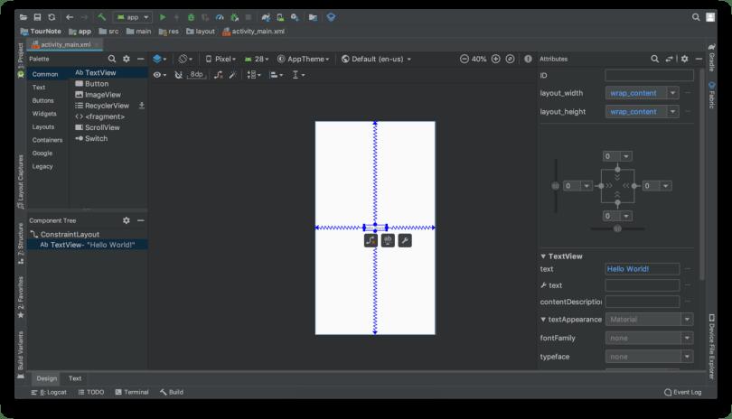 Tạo giao diện người dùng - Tab Design