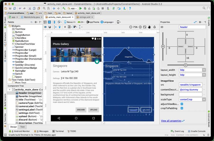Android Studio - Ra mắt ConstraintLayout