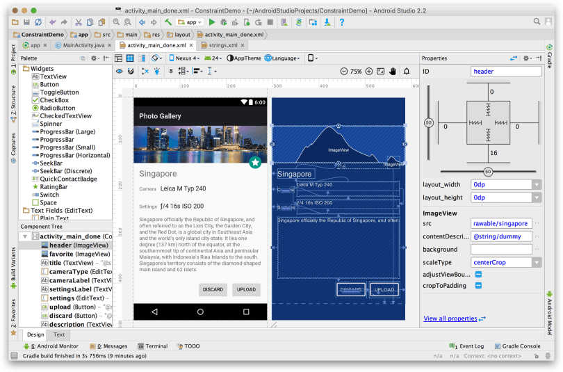Android Studio - Ra mắt ConstraintLayout
