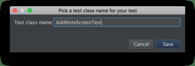 Android Studio - Đặt tên cho test