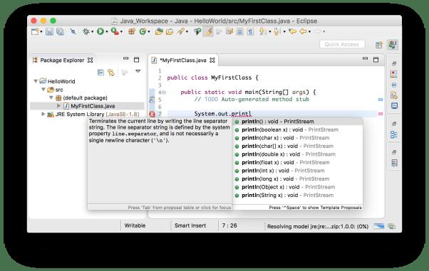 Tạo project Java - Hộp thoại gợi ý code