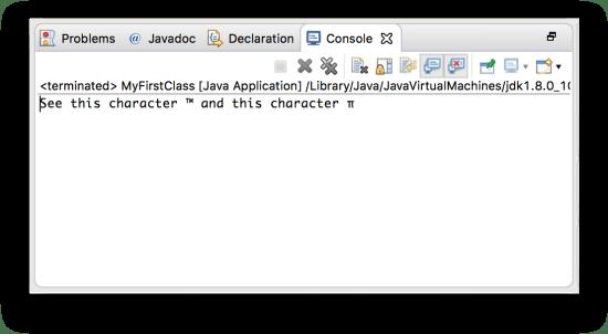 Biến - In ra console các mã Unicode