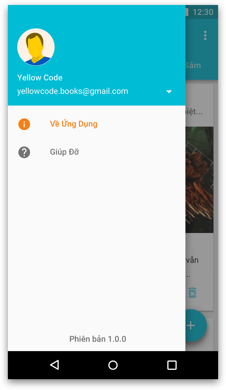 Android Bài 25: Xây Dựng Navigation Drawer - YellowCode Books