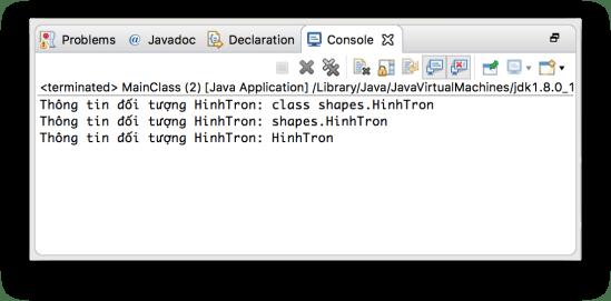 Lớp Object - Phương thức getClass()