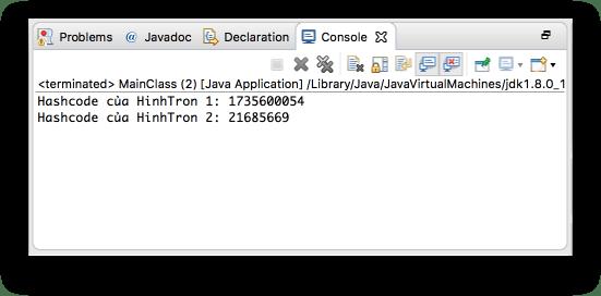 Lớp Object - Phương thức hashCode()