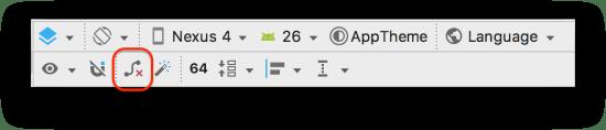 ConstraintLayout - Nút xóa hết tất cả các constraint trên toolbar