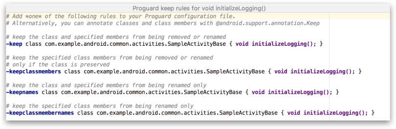 Android Studio 3.0 - Generate Proguard keep rules trong APK Analyzer
