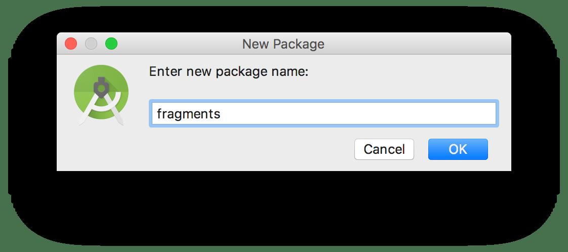 Khai báo tên của package sắp tạo