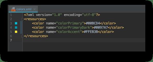 Định nghĩa lại màu cho TourNote trong file colors.xml