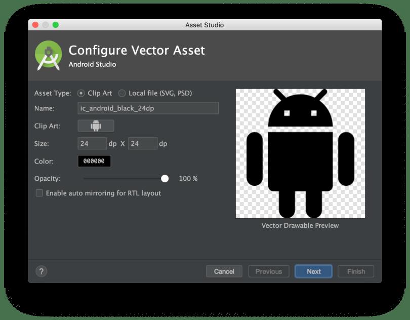 Popup Configure Vector Asset