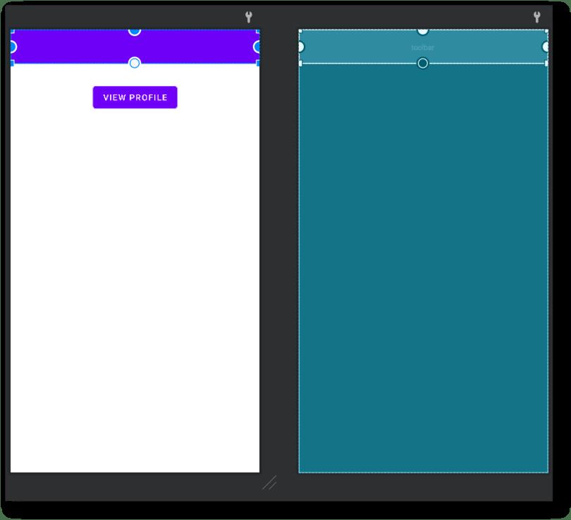 Canh chỉnh Toolbar nằm trên so với NavHostFragment