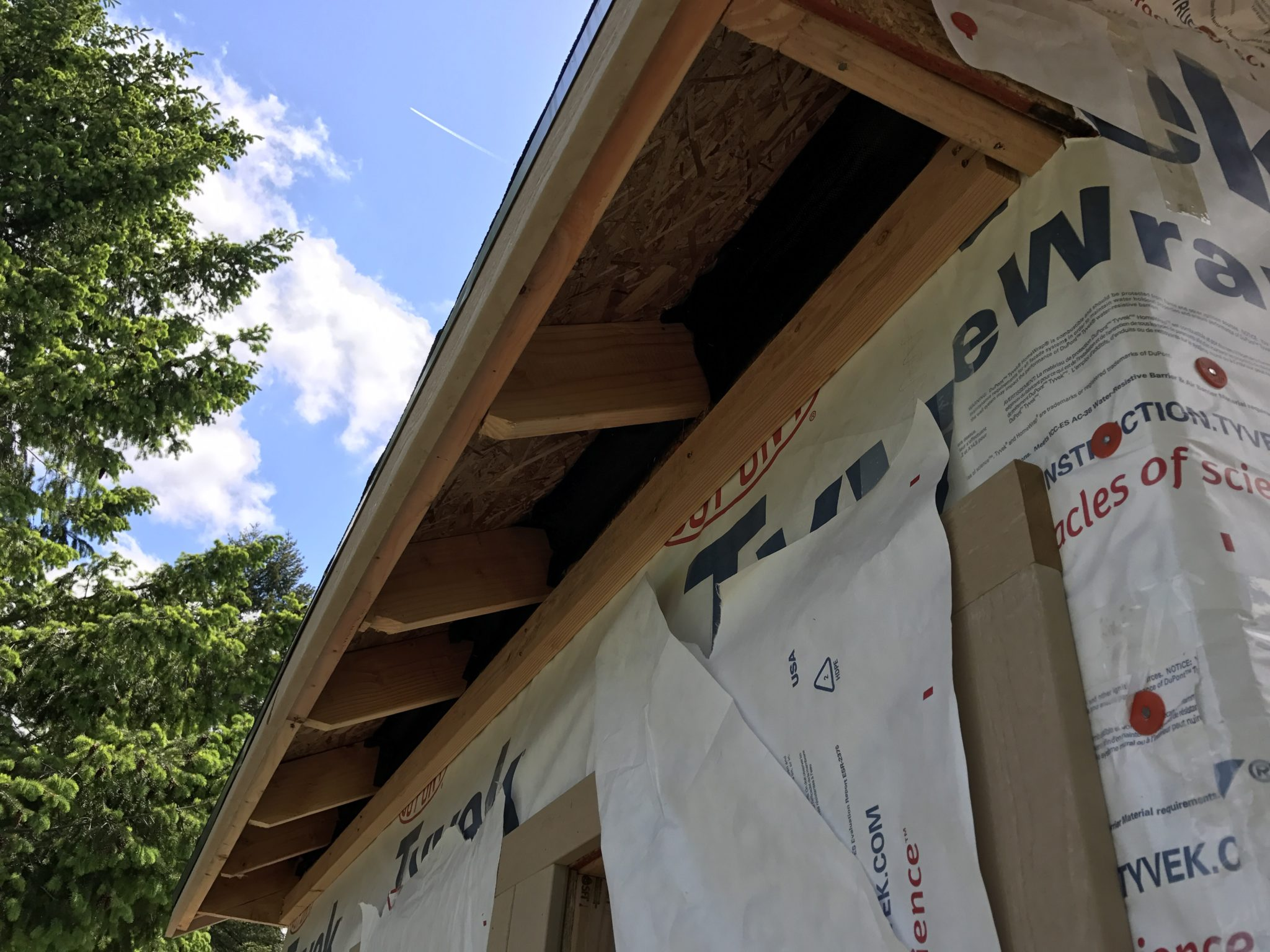 how to build a gable end soffit box