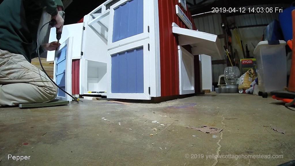 Attaching maintenance doors