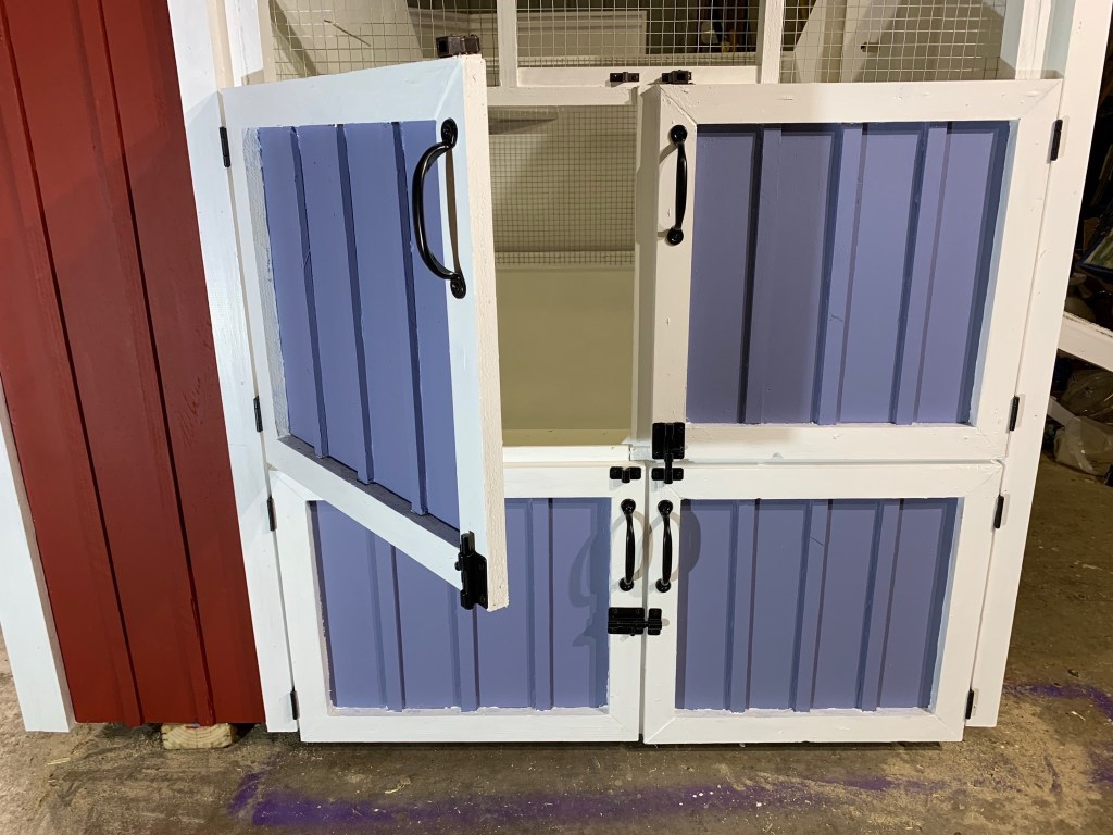 One maintenance door open