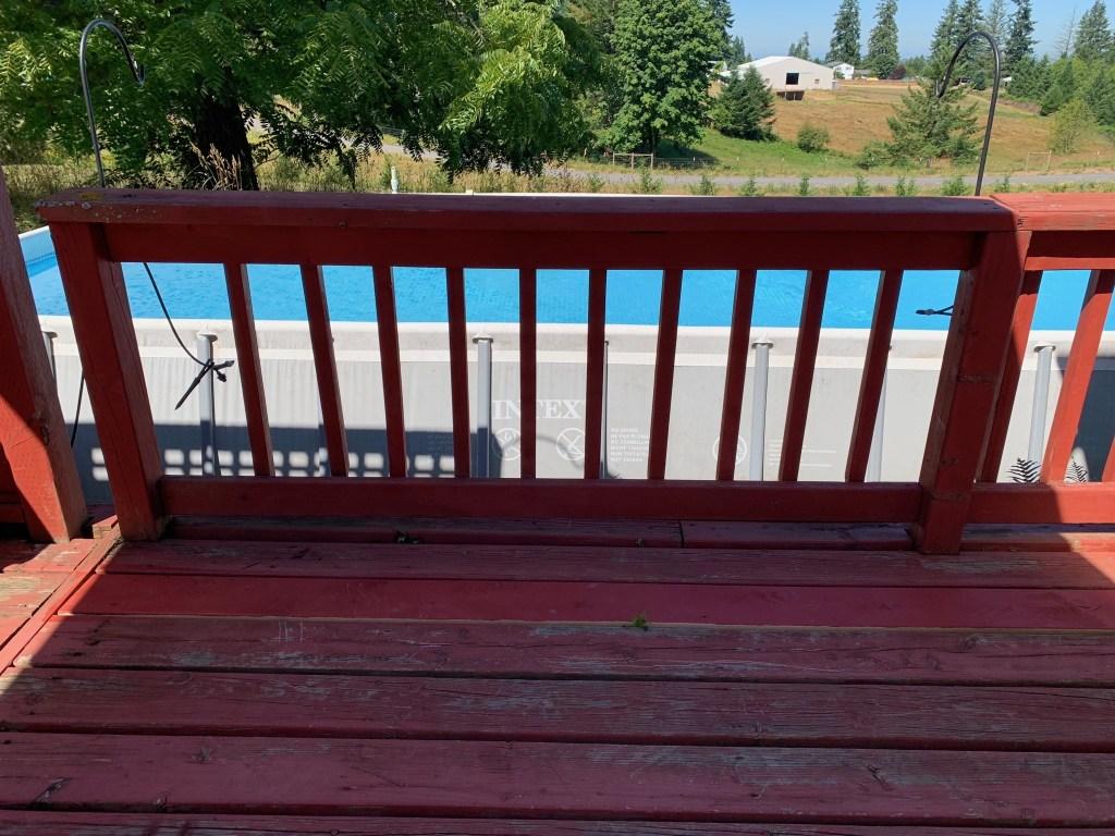 Railing and pool