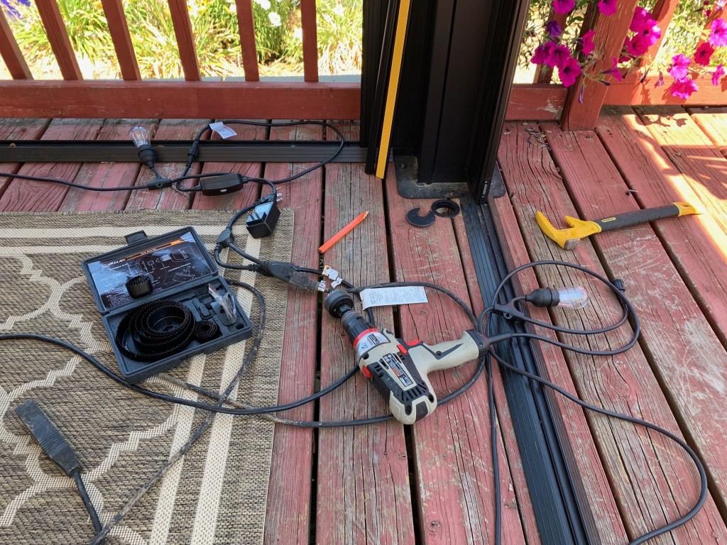 Installing power, lights, etc