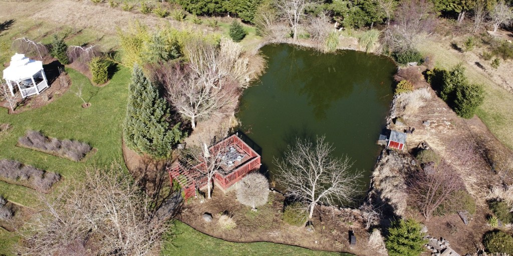 Aerial picture of pond