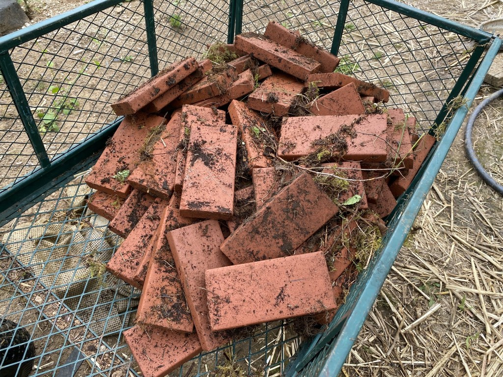 Bricks in cart