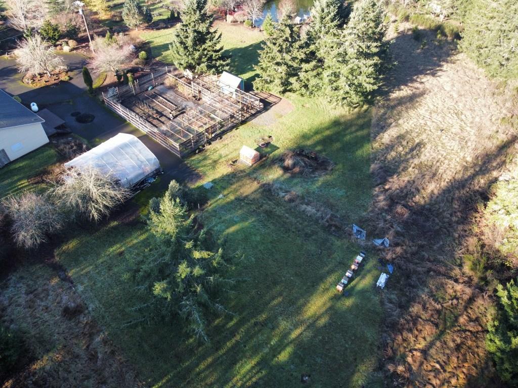 Beehives, veggie garden, etc
