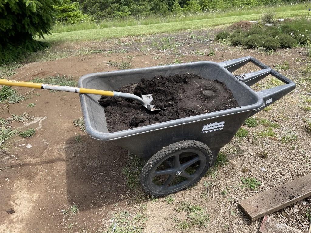 Wheelbarrow of dirt
