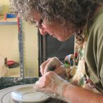 Working at the Pottery Studio