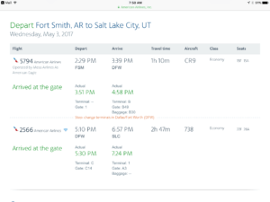 Flight to Utah