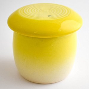 Butter Keeper Yellow and White