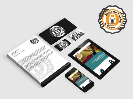 Rescue Locks & Keys Web and Logo Design