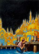 """The Golden City"" - Virgil Finlay - Famous Fantastic Mysteries, Dec 1942"
