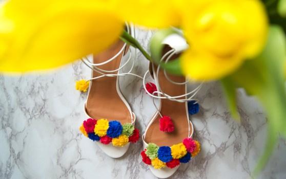 diy pom pom heels