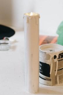 Hallowen- DIY Kerzen aus Küchenrollen (6 von 13)