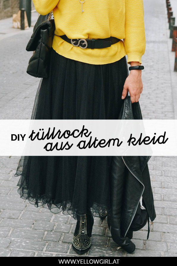 yellowgirl-DIY-Tüllrock-aus-einem-altem-Cocktailkleid-P
