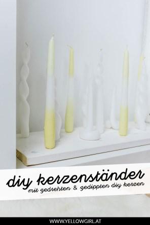 yellowgirl-DIY-Kamindeko--gedrehte-Kerzen-in-verschiednen-Farben-und-Formen-P2