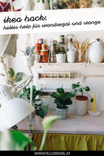 yellowgirl-Ikea-Hack-in-der-Küche--helles-Holz-für-Wandregal-und-Stange-P