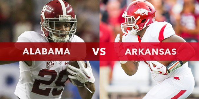 Image result for Alabama Crimson Tide vs. Arkansas Razorbacks