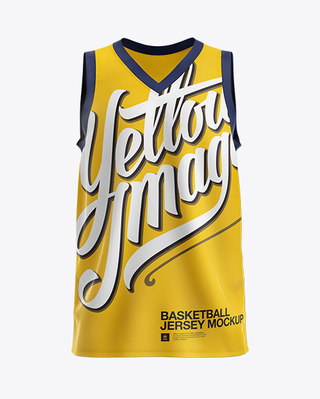 Download Basketball Jersey with V-Neck Mockup - Front View in ...