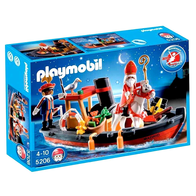 Playmobil Stoomboot van Sinterklaas en Zwarte Piet 5206