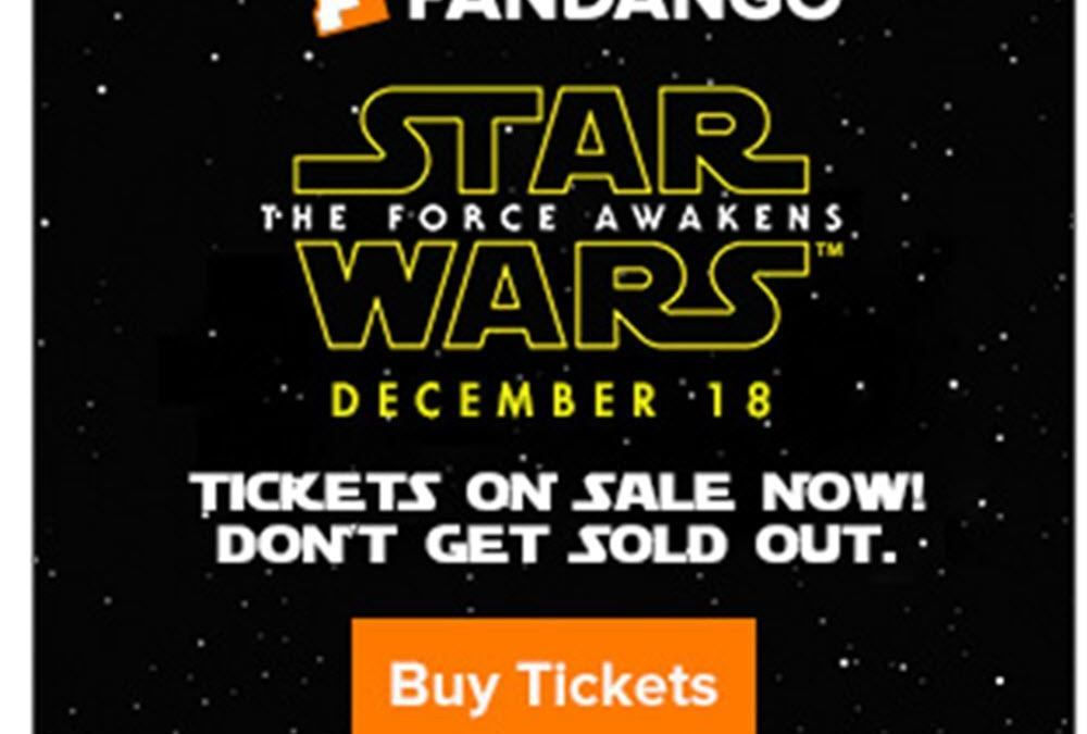 STAR WARS TICKETS plus Celebratory MOTIVATIONAL POSTER DEAL