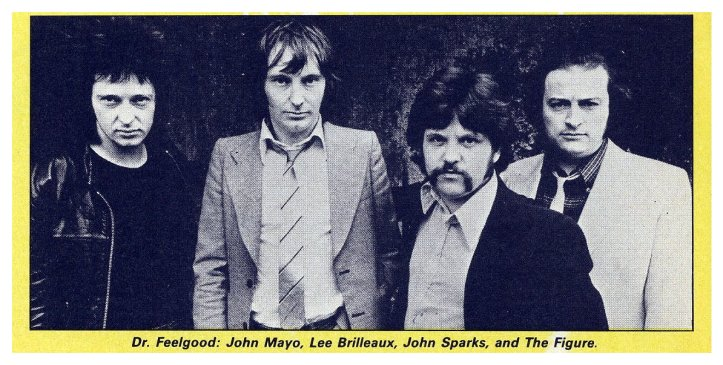 line-up of tough looking men from the group Dr Feelgood